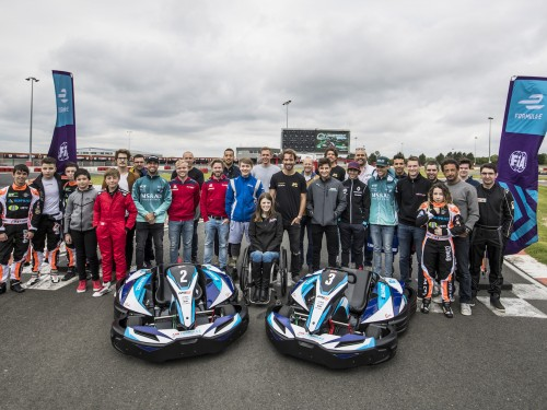 Formula E karting session