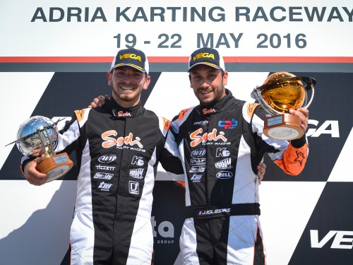 Two Sodis on the 2016 WSK Super Master podium