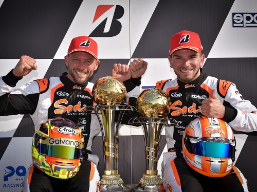 Neapolitan double podium - WSK Euro Series
